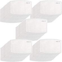 10-200 pces pm2.5 máscara almofadas de filtro 5 camada anti poeira descartável rosto boca máscara filtro adulto crianças criança respirável máscara protetora