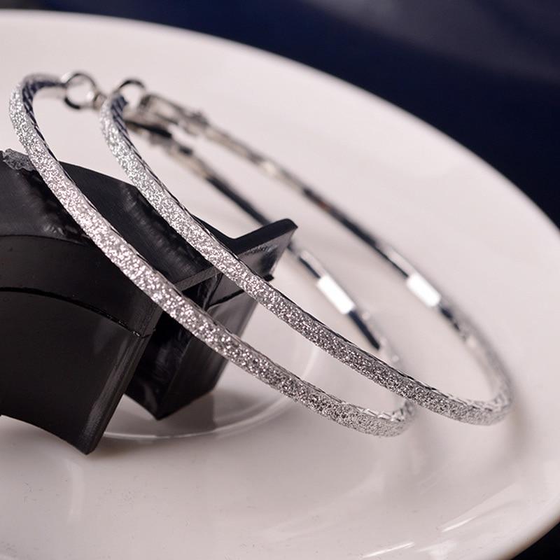 Big Crystal Hoops Earrings 6CM Hoop Round Dangle Earring Jewelry Women Crystal Diamante Rhinestone Large Hiphop Ear Ring Gift