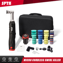 SPTA 12V Micro Cordless Swirl Killer Car Polisher RO/DA Mini Car Polisher With Extension Shaft for polishing