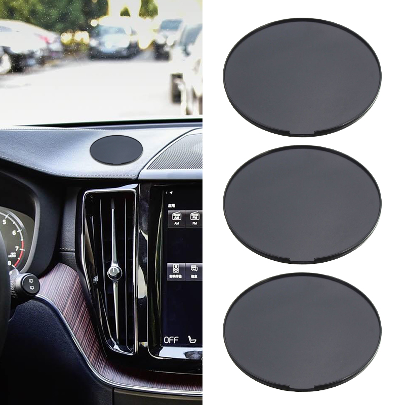 3 Pcs 72mm Car Dashboard Disk Plate Mount Adhesive Mounting Disk For Smartphone/Car Camera/GPS Suction Etc Car Accessories