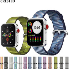 Nato Strap For Apple Watch Band apple watch 4 3 5 band 44mm 40mm iwatch band 42mm 38mm pulseira correa Woven Nylon Bracelet belt цена и фото