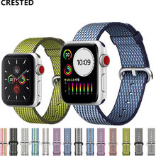 Nato Strap Voor apple watch Band apple watch 4 3 5 band 44mm 40mm iwatch band 42mm 38mm pulseira correa Geweven Nylon Armband riem(China)