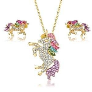 3pcs Jewelry Set Rhinestones S