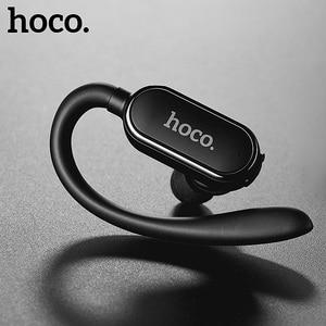 Image 1 - Mini casque Bluetooth sport HOCO à crochet Écouteurs super basses Casque sans fil Écouteurs kit mains libres microphone pour iPhone X Huawei P20