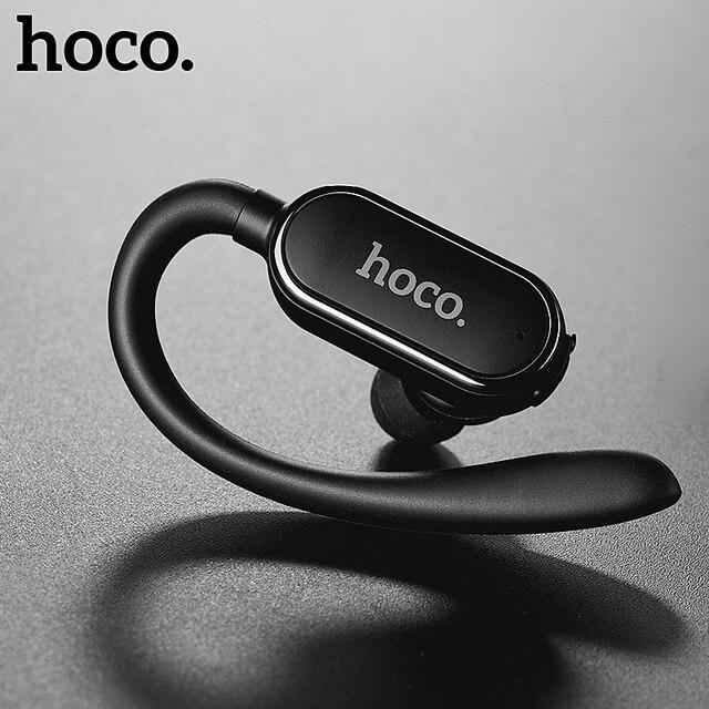 Mini casque Bluetooth sport HOCO à crochet Écouteurs super basses Casque sans fil Écouteurs kit mains libres microphone pour iPhone X Huawei P20