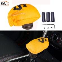 YOLU Car Gear Shift Knob Modification Interior Decoration MT Carved Lever Knobs for Audi Money Bag