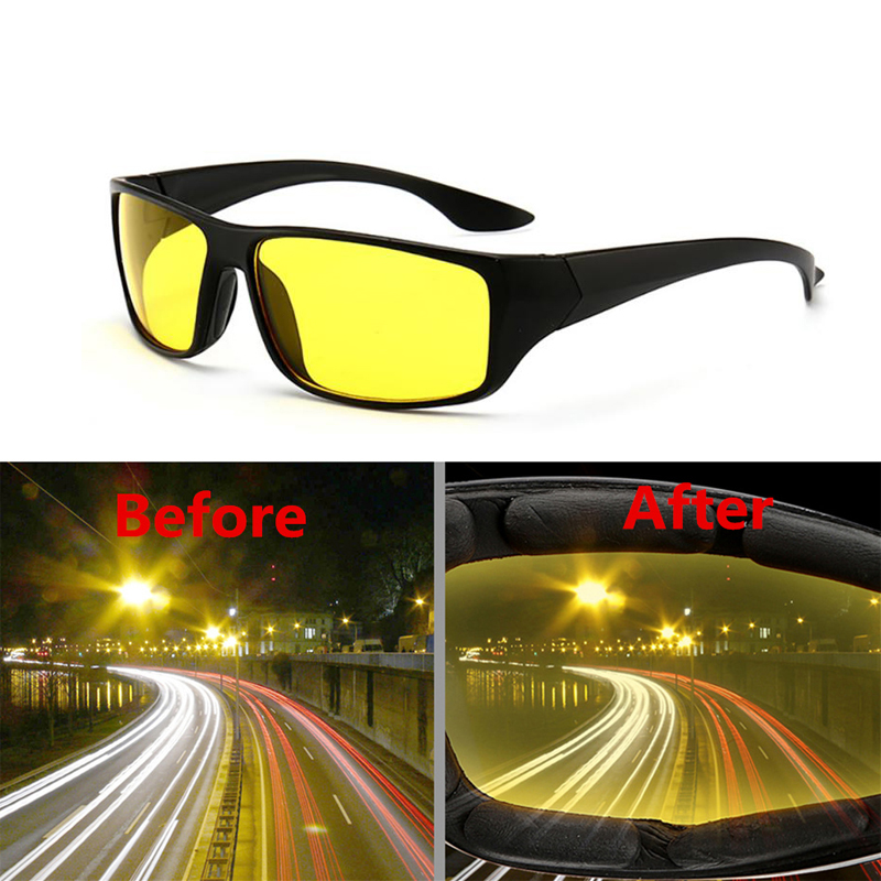 Fashion Sunglasses Goggles Anti-Glare Night Vision Driver Goggles Night Driving Enhanced Light Glasses Car Accessries