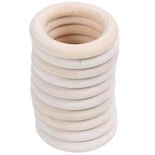 Новые натуральные деревянные кольца, диаметр 50 мм