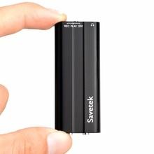 Savetek mini caneta usb de 8gb 16gb, gravador de voz digital ativado, tocador mp3 sem parada 50 horas gravação preto