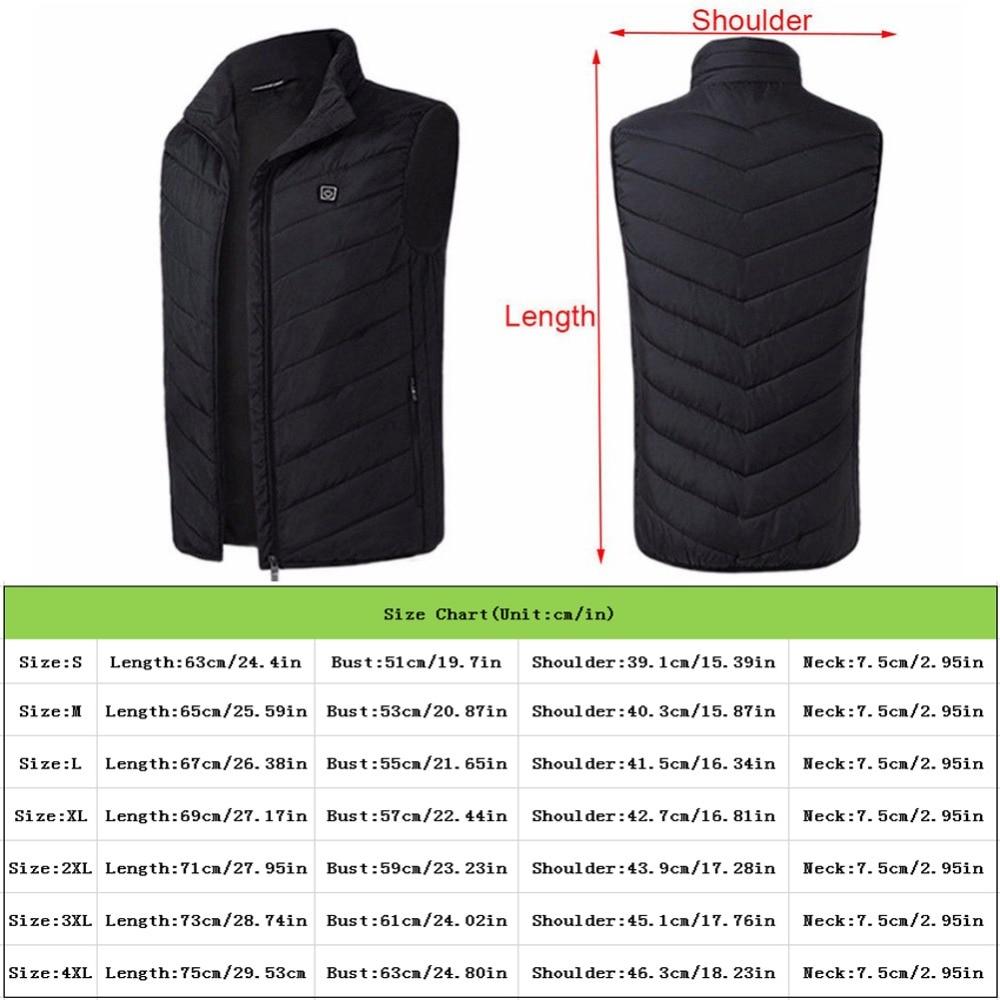 aquecimento colete jaqueta inverno flexível elétrica térmica