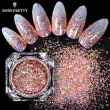 BORN PRETTY 1 Box Holographics Nail Flakies Sequins 0.1g Rose Gold Powder Paillette DIY Nail Art Decorations