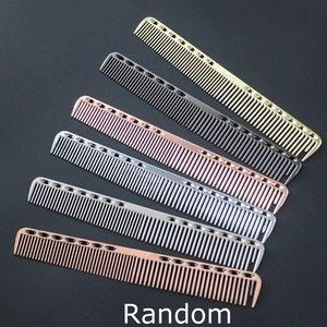 Прочная алюминиевая Расческа для парикмахерских, Антистатическая Расческа для стрижки, парикмахерский инструмент для красоты волос