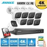ANNKE 4K Ultra HD 8CH DVR Kit H.265 système de sécurité de caméra de vidéosurveillance 8MP système de vidéosurveillance IR Kits de Surveillance vidéo de Vision nocturne extérieure