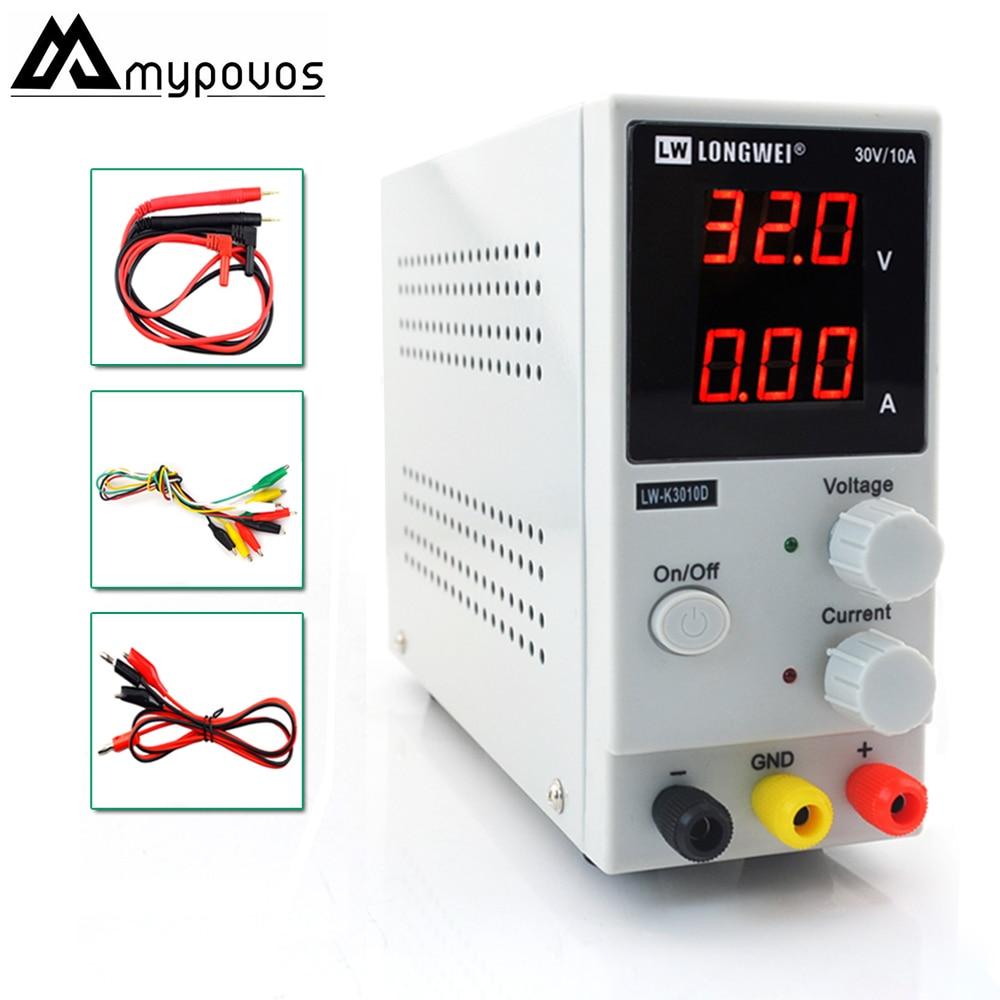 LW-K3010D Mini Adjustable Digital DC power supply 30V10A Switching Power supply 110v-220v For laptop phone repair