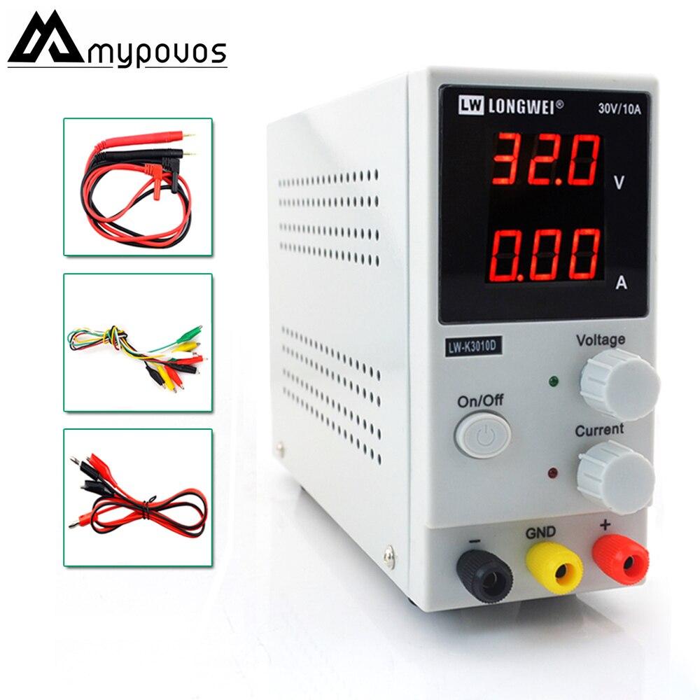 LW-K3010D Mini fuente de alimentación Digital ajustable de CC 30V10A fuente de alimentación de conmutación 110 v-220 v para reparación de teléfonos portátiles