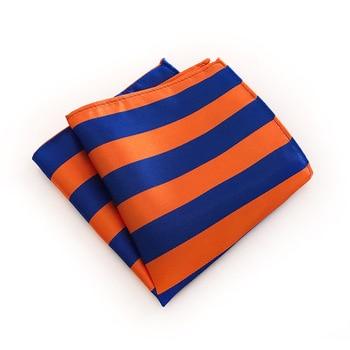 Matagorda Stripes Tie Men Square Hankerchief 100% Silk Hanky Pocket Cravat for Man Formal Suit Accessories small Scarf 25*25CM 100% natural silk men s elegant double faced cravat scarf