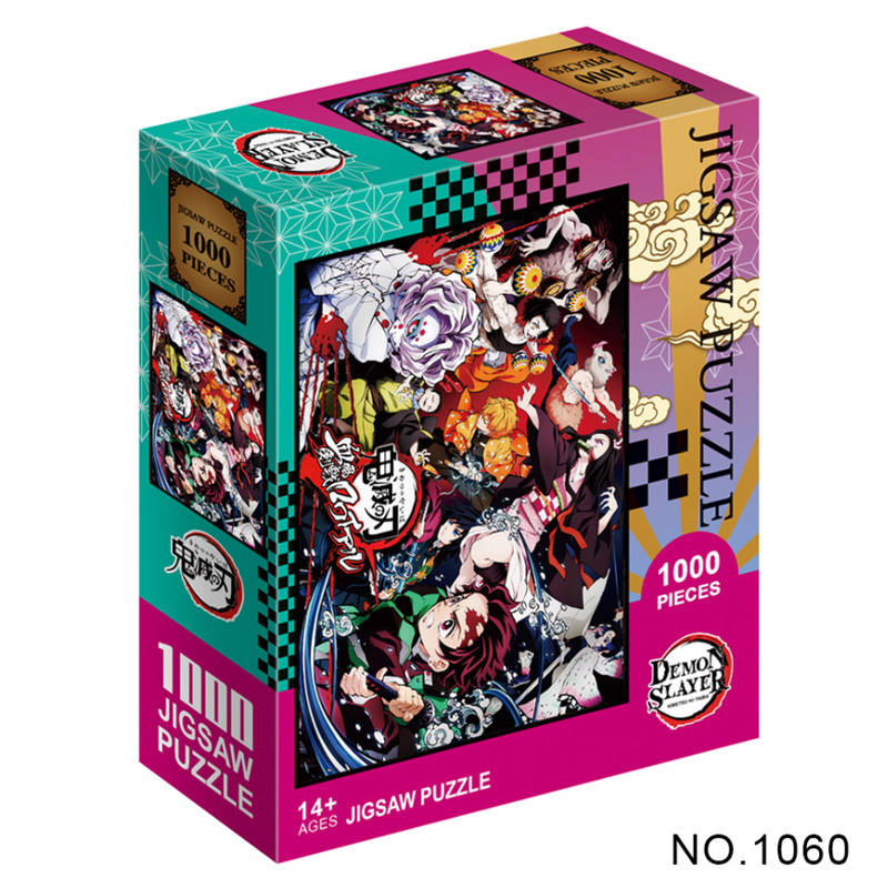 1000 шт., Мультяшные аниме-пазлы, рассекающий демонов киметасу, бумага No Yaiba, Kamado Tanjirou, детские развивающие игрушки, подарки