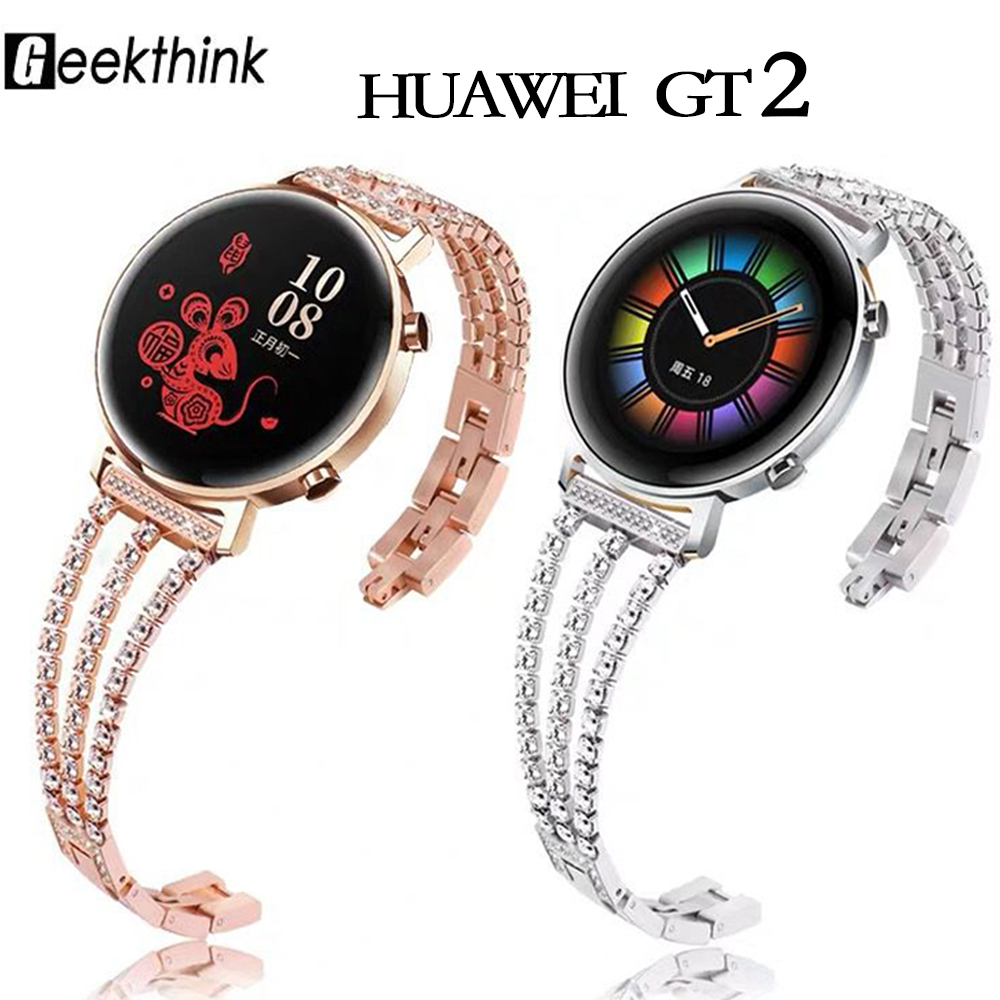20mm 22mm Woman Watch Strap For Samsung Galaxy Gear S3 Band Pink Bracelet Correa Stainless Steel Buckle Galaxy 46mm Huawei Gt