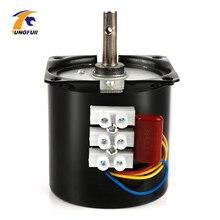 1PC 60KTYZ Magnete Permanente Motore Sincrono AC 220V 14W Sincrono Gear Motor 2.5/5/10/15/20/30/50/60/80/110rpm