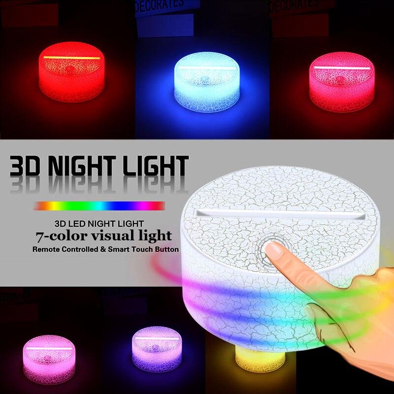 Lamp Holder Light Base Touch Lamp Bases Home Wedding Decor Luminous Crack Pattern Romantic