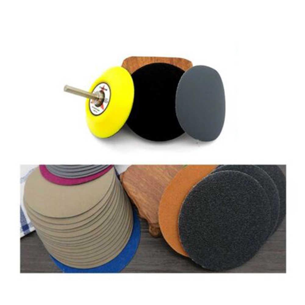 50Pcs 3 Inch 400-10000 Grit Hook And Loop Sanding Disc Flocking Sandpaper