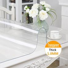 Clear Tablecloth Waterproof Desk-Protectors Home-Decor Soft Pad Mat Cov