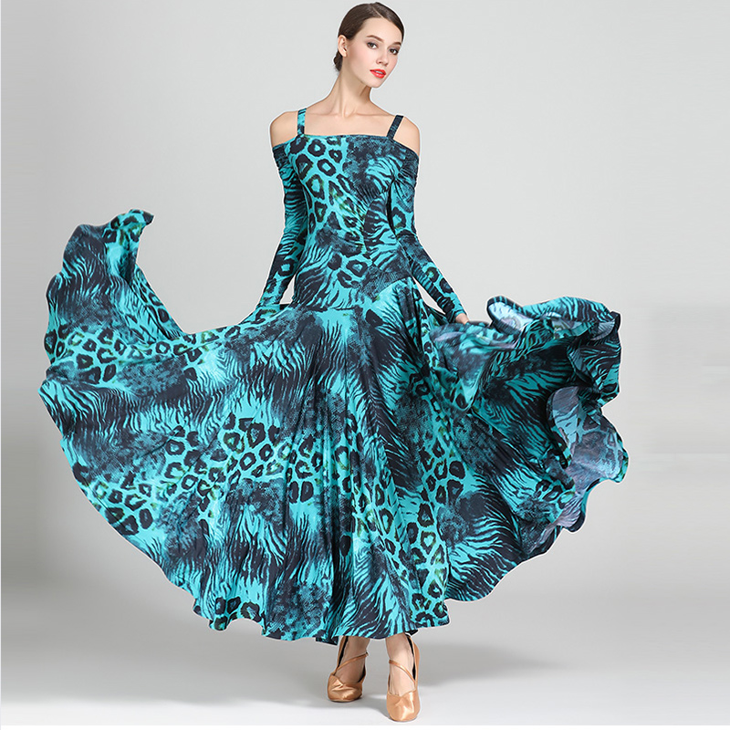 NEW Ballroom Competition Dance Dress Women Modern Tango Waltz 