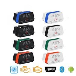 ICar2 ELM327 skaner samochodowy Bluetooth 3.0 Wifi analizator silnika samochodu z przełącznikiem
