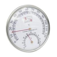 Sauna termômetro caixa de metal sauna vapor sala termômetro higrômetro banho e sauna interior ao ar livre usado promoção|  -