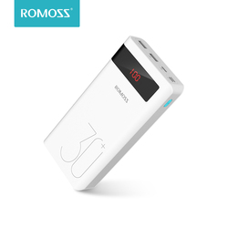 ROMOSS 30000mAh Power Bank PD Quick Charge Powerbank QC3.0 Fast Charging for iPhone Huawei Portable Exterbal Battery Charger