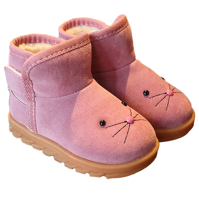 Winter Warm Baby Boots Cute Cartoon Baby Girl Boy Boots Non-Slip Snow Warm Kids Boots Infant Toddler Winter Shoes