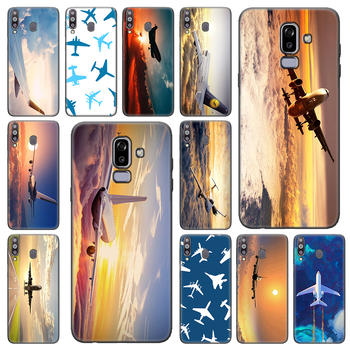 Avión vuelo viaje nube avión suave funda para Samsung Galaxy A6 A8 Plus A7 A9 J4 J6 Plus J8 2018 M10S M20 M30S M40 TPU