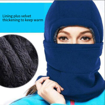 New Men Women Winter Windproof Fleece Scarf Hat Sports Cycling Warm Bike Face Mask Plus Velvet Thick Cover Cold Bicycle Headwear