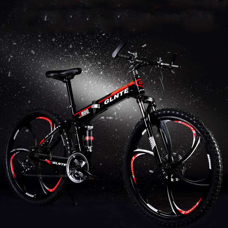 Mountain Bike Hot Sale 26 Inch 21 Speed Double Disc Brake Folding Speed Aluminum Alloy Rim Road Bike Racing Bicycle