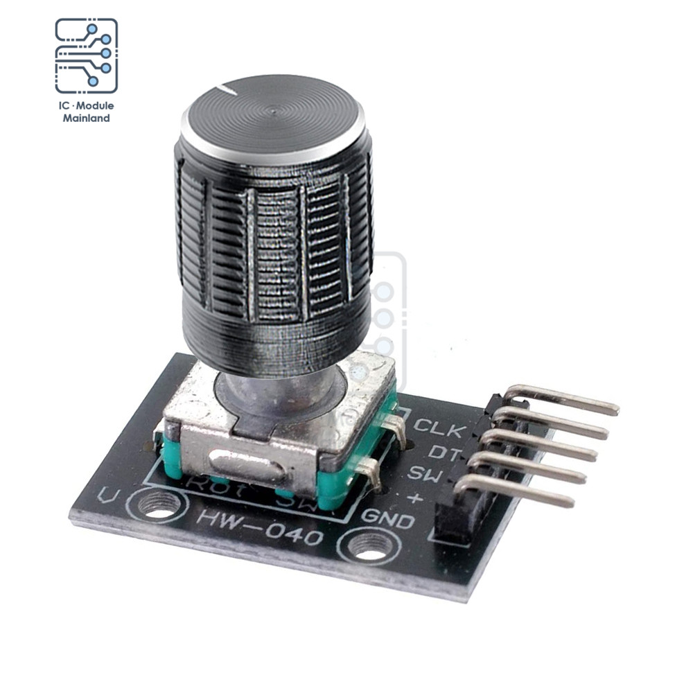 KY 040 Rotary Encoder Brick Sensor Module Potentiometer with 15x17mm 6mm  Shaft Rotary D Type Encoder Knob for Arduino AVR PIC Integrated Circuits  -  AliExpress