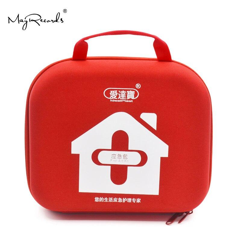 Kits de primeiros socorros saco vazio bolsa para viagem acampamento esporte carro médico emergência sobrevivência ao ar livre (vermelho)