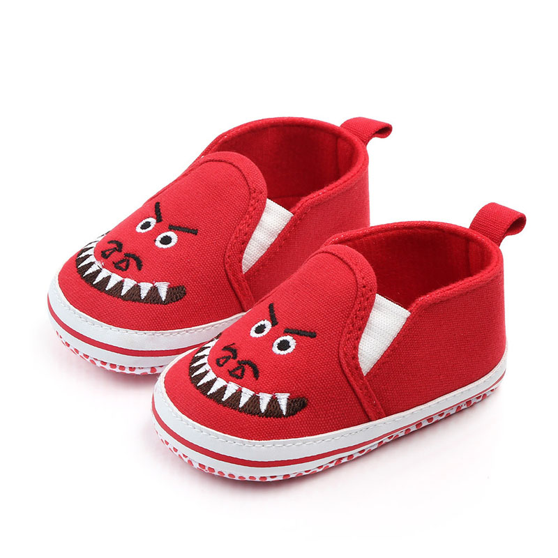 Newborn Baby Boy Girl Shoes First Walkers Baby Moccasin Shoes Canvas Prewalkers For Kids Crib Shark Mouth Toddler Shoes