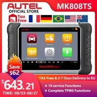 Autel maxicom mk808ts obd2 scanner bluetooth ferramenta de verificação diagnóstico do carro obd 2 leitor código programação tpms sensor pk mk808 mp808