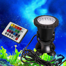 RGB Pool Light 36 Leds Color Changing LED Swimming Pool Light With Remote Control Landscaping Spotlights Water Grass Fill Light