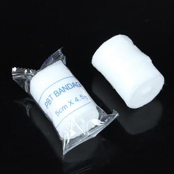 10 Rolls/lot 5cmx4.5m PBT Elastic Bandage First Aid Kit Gauze Roll Dressing 1