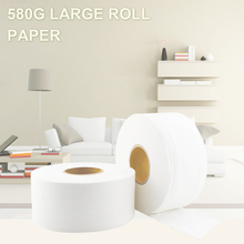 580g Large Roll Toilet Paper 900+sheets Soft Tissue Household Roll Paper Adjunct Non-Smell Paper Towels for Public Hotel