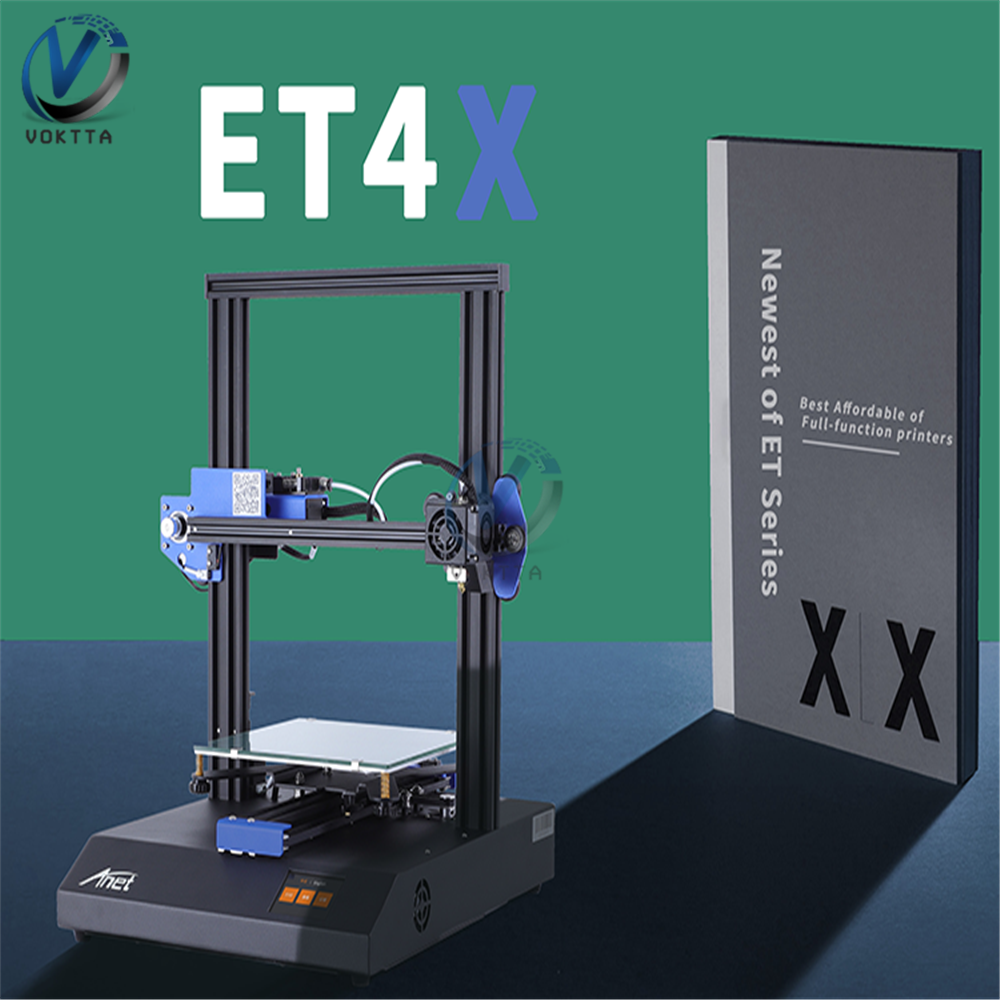 Anet ET4X 3D Printer High Precision 220*220*250mm 2.8 Inch Touch Screen Aluminum Alloy Frame FDM 3d Printer Kit DIY AU/US/UK/EU