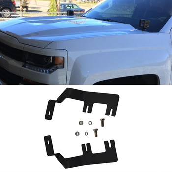 Upper Hood Hinges A-Pillar Side LED Work Light Mount brackets For Chevrolet Colorado 2015-2019 and GMC Canyon 2015-2019