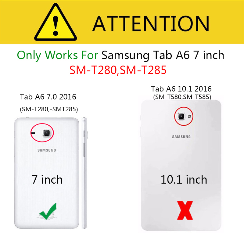 Новый чехол для планшета Samsung Galaxy Tab A a6 7,0 дюйма T280 T285 SM-T280, умный чехол для планшета, откидная подставка, защитный чехол-1