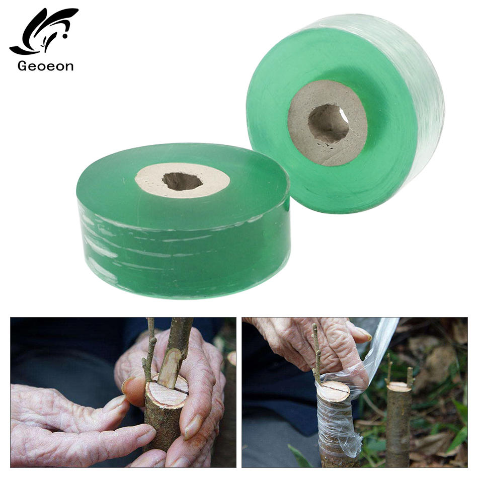 2CM X 100M Self-adhesive Nursery Stretchable Fruit Tree Grafting Tape Garden Flower Vegetable Grafting Tapes A32