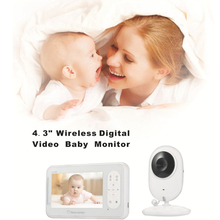 CYSINCOS 4.3 Inch Wireless Video Color Baby Monitor High Resolution Baby Nanny Security Camera  Night Vision Temperature Monitor
