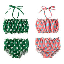 Summer 6M-5Y Toddler Infant Kid Girl Polka Dot Bikini Suit Swimwear Bathing Beachwear Swimsuit Baby Clothes Outfits 2Pcs Set(China)