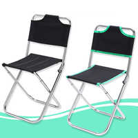 Outdoor Camping Chair Oxford Cloth Portable Folding Camping Chair Seat for Fishing And Festival Picnic BBQ Beach Stool With Bag