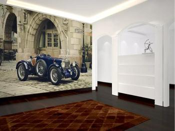 Custom wallpaper 3d photo mural European stereo classic car TV background wall living room bedroom wallpaper 3d murals photo wallpaper europe the united states wind retro old wooden box tv wall custom living room bedroom wallpaper mural