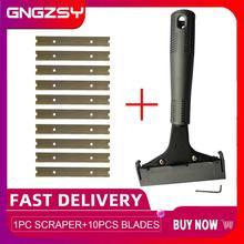 ロングハンドルスクレーパー刃床タイル接着剤の除去セラミッククリーニングシャベルガラス壁クリーン壁紙ツールE29 + 10